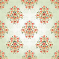Seamless Background With Floral Symmetrical Elements. Stock Photo - 46881410