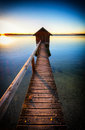 Old Wooden Boathouse Stock Images - 46885234