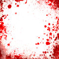 White Background Whit Red Blood Splatters Borders Stock Image - 46888901