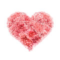 Heart Of Pink Roses Valentines Day Royalty Free Stock Photo - 46893335