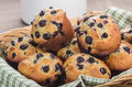Basket Of Freshly Baked Muffins Royalty Free Stock Images - 46895099
