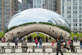Cloud Gate The Bean In Chicago Royalty Free Stock Image - 46895656
