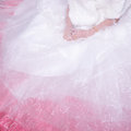 Bride Wearing Wedding Dress Waiting For Groom On The Bed Royalty Free Stock Photos - 46896408