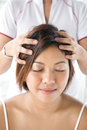 Patient Receiving Head Massage Royalty Free Stock Image - 4696276
