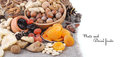 Nuts And Dried Fruits Royalty Free Stock Photo - 46909725