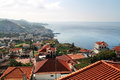 Red Roofs Of Madeira Houses Near The Ocean Stock Photo - 46911110