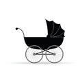 Baby Carriage Vector Illustration In Black Royalty Free Stock Photo - 46929705