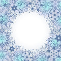 Ornamental Winter Frame With Ornate Snowflakes Stock Photography - 46936492