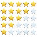 Vector Modern Stars Icon Set On White Stock Photography - 46936712