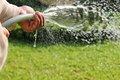 Watering The Garden Stock Photography - 46938722