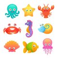 Cute Sea Animals Stock Photo - 46945200