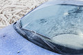 Frozen Front Windshield Of Car Stock Image - 46945981
