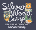 Silver Wood Camp Hiking Company Stock Images - 46948354
