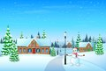 Christmas Holiday Village House Winter Snow, Royalty Free Stock Photo - 46954265