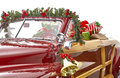 Christmas Decorated Classic Car Stock Image - 46975701
