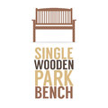 Single Wooden Park Bench On White Background Royalty Free Stock Images - 46978829