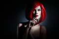 Red Hair Style Woman Redhead Portrait Royalty Free Stock Photo - 46980805