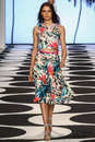 NEW YORK, NY - SEPTEMBER 05: A Model Walks The Runway At Nicole Miller Spring 2015 Fashion Show Stock Photography - 46984032