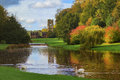 Fountains Abbey And Studley Royal Water Garden Stock Photography - 46992942