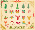 Christmas Icons Set On Parchment Stock Photo - 46998480
