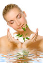 Womanl Holding Young Plant Stock Image - 4704311