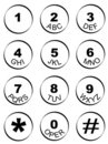 Phone Number Key Pad Royalty Free Stock Photos - 4709348