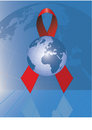Globe With Red Ribbon Stock Photos - 4709513