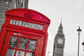 Symbols Of London Inline With Isolated Red Telephone Box Stock Image - 47015271
