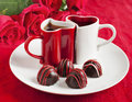 Chocolate Truffle For Valentine Day Stock Images - 47022944