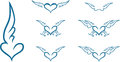 Heart With Wings Stock Photos - 47032053
