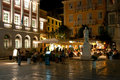 CORFU-AUGUST 25: Kerkyra Nightlife, Lots Of People In A Restaurant On August 25, 2014 In Kerkyra Town On The Corfu Island, Greece. Stock Photo - 47035630