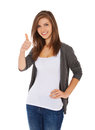 Teenage Girl Showing Thumbs Up Royalty Free Stock Photo - 47038415