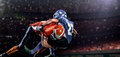American Football Player In Action On Stadium Stock Photos - 47039063