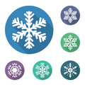 Set Of Flat Snowflakes Icons, Vector Illustration Royalty Free Stock Photos - 47050988
