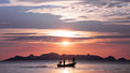 Sunset In The Gulf Of Thailand Stock Photos - 47052153