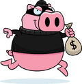Cartoon Pig Burglar Stock Image - 47055991