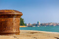 The Old Pillar At The Pier Stock Image - 47060321