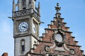 Old Post Office Tower In Ghent, Belgium Stock Photo - 47061680