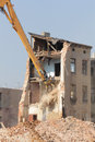 Demolition Of The Old Building In The Town Royalty Free Stock Photo - 47067415