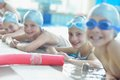 Group Of Happy Kids Children At Swimming Pool Royalty Free Stock Images - 47067449