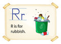 A Letter R For Rubbish Stock Image - 47067741