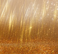 Bright Golden Bokeh Lights And Texture. Defocused Abstract Background Stock Photo - 47072090