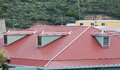 Red Metal Roof On Caribbean Building Stock Photography - 47076062