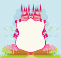 Beautiful Fairytale Pink Castle Frame Royalty Free Stock Photo - 47092045