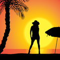 Vector Silhouette Of Woman. Stock Photography - 47096102