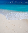 Footprints On Sandy Beach Stock Images - 47106744