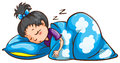 A Young Girl Sleeping Royalty Free Stock Photo - 47110375