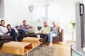 Multi Generation Family Watching TV Together Stock Images - 47119844