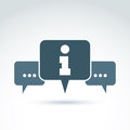 Vector Consultation Symbol, Call Center Icon, Information Sign. Stock Photography - 47125792