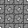 Seamless Black And White Geometric Pattern, Simple Vector Stripe Royalty Free Stock Photo - 47126575